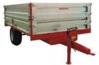 Tippvagn - fäste ögledrag kapacitet 6 ton med stållämmar vikt 1200 kg