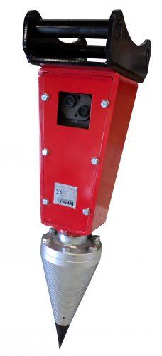 Hydraulmotor 1000 med klyvkon fäste flänsbultförband för delning av stora stockar och stubbar