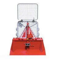 Timmervinsch Tajfun EGV 55 AHK dragkraft ca 5 ton fäste trepunkt hydrauliskt manövrerad exkl Kaxel inkl 80 m vajer effektbehov 35-70 hk