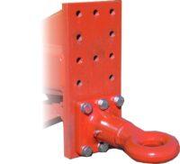Dragögla till vagn diameter 50 mm vridbar för reparation eller nykonstruktion bultmonterad