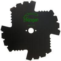 Röjsågsklinga - V-klingan diameter 225 mm centrumhål 25 mm 4 skär för bra röjning