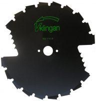 Röjsågsklinga - V-klingan diameter 200 mm centrumhål 20 mm 2 skär för bra röjning