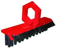 Sopborste för gripkassett - ringfäste bredd 1400 mm anpassad för järnväg med gummiskär vikt 175 kg