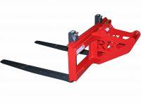 Gaffelställ – mekaniskt fäste S50 kapacitet 4000 kg rambredd 1200 mm gaffellängd 1200 mm vikt 340 kg