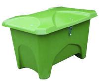 Redskapslåda - 280 liter för förvaring av redskap foder kemikalier mm vikt 20 kg färg mossgrön