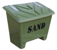 Sandlåda - 130 liter för förvaring av sand vikt 14 kg färg mossgrön