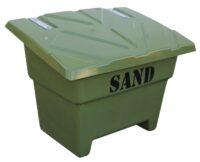 Sandlåda - 350 liter för förvaring av sand vikt 22 kg färg mossgrön