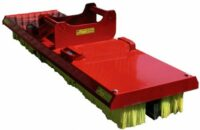 Sopborste till grävmaskin - fäste S60  bredd 2000 mm gummiskär & gaffelfäste ingår vikt 230 kg