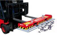 Magnetisk borste för hjullastare traktor truck - bredd 1500 mm samlar upp järnskrot används med pallgaffel