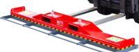 Magnetisk borste för hjullastare traktor truck - bredd 2500 mm samlar upp järnskrot används med pallgaffel