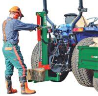 Vedklyv – traktordriven fäste trepunkt tryckkraft 10 ton klyvlängd 45 cm vikt 65 kg