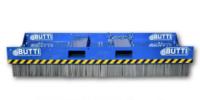 Stålborste Large för hjullastare -fäste Stora BM inkl gaffelfäste bredd 2500 mm djup 950 mm