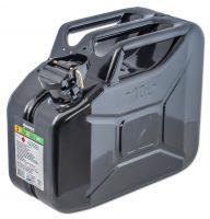 Jeepdunk - volym 10 liter svart säkerhetsstift som förhindar oavsiktlig öppning fodrad insida mot rost