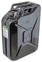 Jeepdunk - volym 20 liter svart säkerhetsstift som förhindar oavsiktlig öppning fodrad insida mot rost