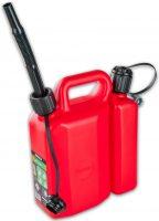 Kombidunk - volym 3.5 + 1.5 liter för bänsle och olja inklusive avtappningspip
