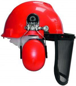Skogshjälm ECO - med visir och hörselskydd ansiktsskydd av metallnät individuellt inställningsbar
