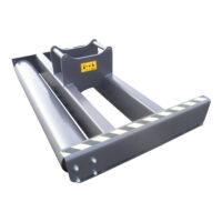 Avjämningsbalk - fäste S45 bredd 2500 mm rulldiameter 245 mm vikt 400 kg