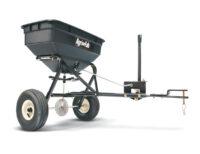 Gödnings- & saltspridare - kapacitet 45 kg spridareal upp till 3000 mm passar till samtliga trädgårdstraktorer