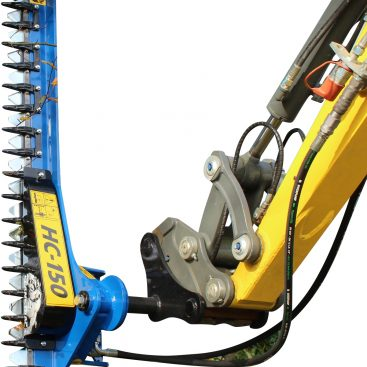 Häcksax för grävmaskin - fäste S60 klippbredd 1500 mm klipper upp till 40 mm tjocka grenar