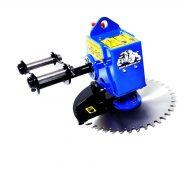 Röjsåg HS55 för grävmaskin - fäste S60 klingdiameter 550 mm klarar upp till 150 mm tjocka grenar