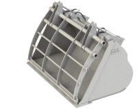 Lättmaterialskopa - med fångarm fäste Stora BM volym 3000 l bredd 2500 mm vikt 1450 kg