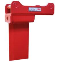 Klyvkniv för grävmaskin - fäste S70 längd 650 mm för delning av tjocka stockar