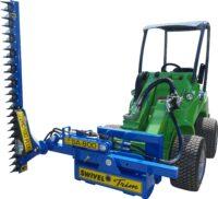Häcksax för kompaktlastare - fäste Avant klippbredd 1800 mm klipper upp till 40 mm tjocka grenar utskjutbart armsystem