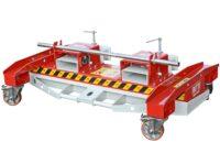 Magnetisk borste med stödhjul för hjullastare traktor truck - gaffelfäste bredd 1500 mm samlar upp järnskrot