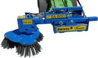Ogräsborste RB80 för traktor - fäste Euro arbetsbredd 800 mm 3 borsthuvuden