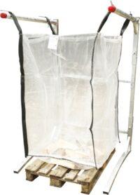 Vedsäckstativ - för Big Bag vedsäckar med justerbar höjd