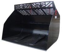 Högtippande skopa - fäste Stora BM volym 12000 liter bredd 3000 mm vikt 3145 kg med sparskär