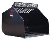 Högtippande skopa - fäste Stora BM volym 8000 liter bredd 3000 mm vikt 2145 kg med sparskär