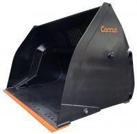 Lättmaterialskopa - högtippande fäste Stor-Stora BM - L180 volym 1500 l - 20000 l - med sparskär