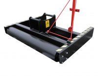 Avjämningsbalk - fäste S45 bredd 2000 mm rulldiameter 245 mm vikt 400 kg
