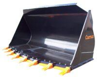 Lastskopa - fäste Extrastora BM volym 6000 l bredd 3400 mm med tänder