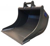 Grävskopa - fäste S3-B30 volym 2200 liter bredd 1600 mm slätt skär