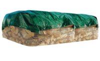 Täckpresenning lång - antal 5 st längd 10 meter UV-skyddad & med öljetter