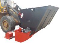Stödkantläggarskopa - fäste Stora BM volym 3100 liter totalbredd 3400 mm vikt 1400 kg