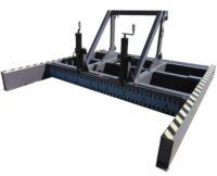 Avjämningsbalk - med skrapa fäste Stora BM bredd 2800 mm rulldiameter 325 mm vikt 1400 kg